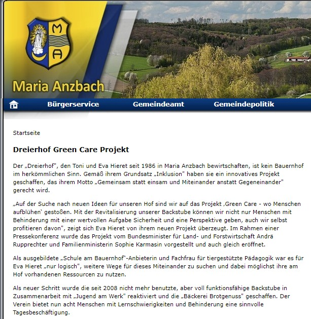 Dreierhof Green Care Projekt