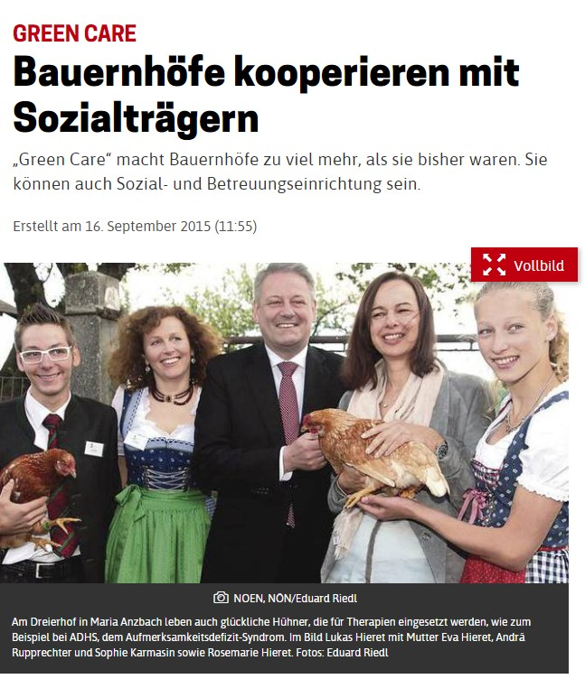 3er Hof in der Presse Green Care
